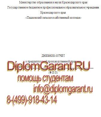 Отчет по практике строительство преддипломная практика На заказ дневник преддипломной практики Строительство