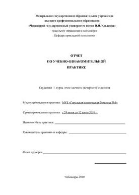 отчет студента по практике в детском саду
