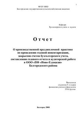 Отчет по практике бухгалтера в бюджетной организации на заказ