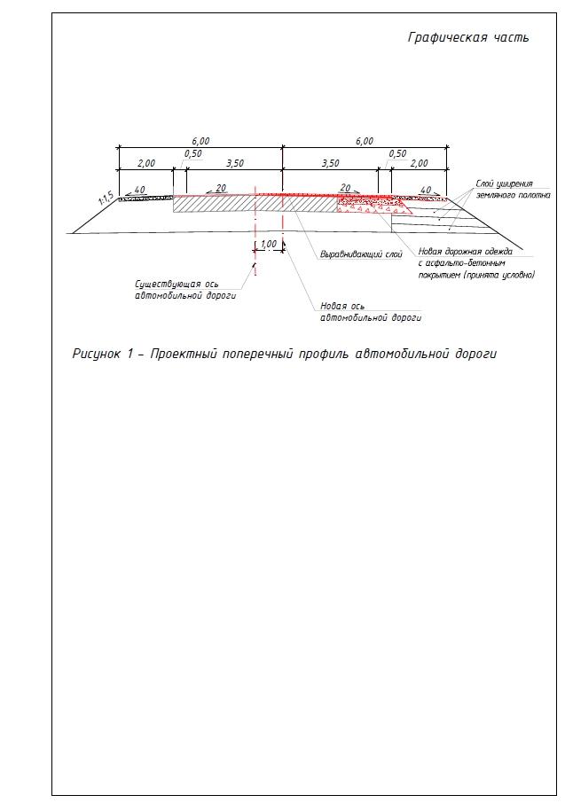МАДИ курсовые дипломные и отчеты по практике по экономическим и  Контрольная проектный поперечный профиль автомобильной дороги